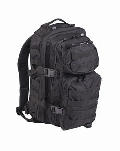 US Assaultpack Molle Zwart, Woodland of Olive  Large 40  L