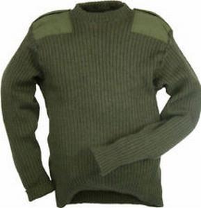 Commando Leger Trui NL/UK 100% Wol, gebruikt OP=OP